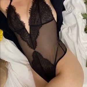 Victoria Secret sexy lace mesh thong body suit